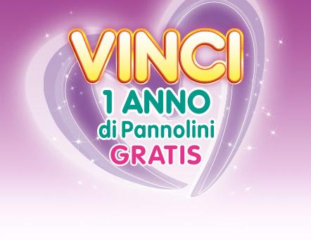 Vinci 1 anno di Pannolini Gratis