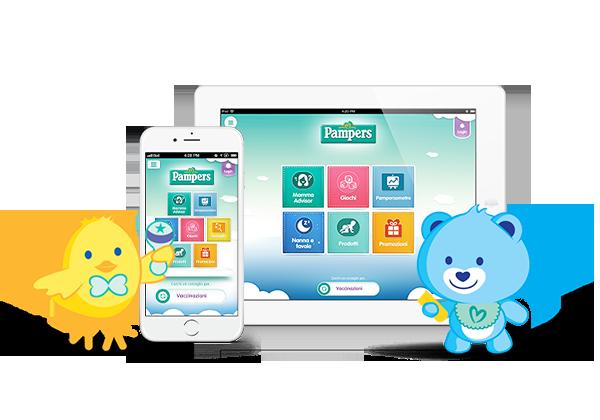La nuova app Pampers