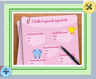 l'agenda del neonato per la bambina