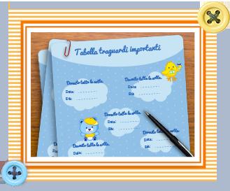 l'agenda del neonato per il bambino